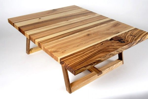 Solid Ash And Zebra Wood Coffee Table Design Of Bandwidth Series By
