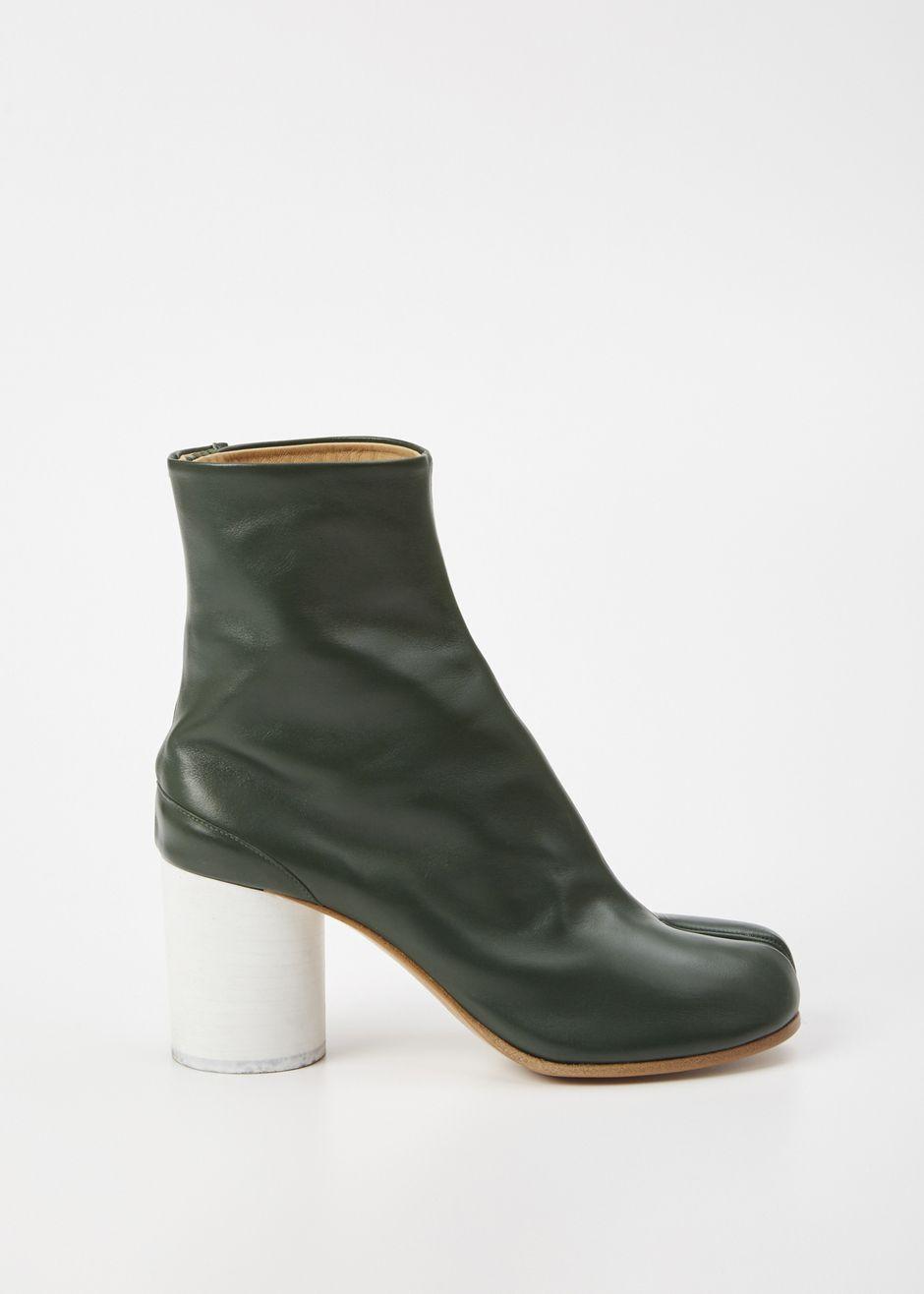 Totokaelo - Maison Margiela Green Tabi Boot - $386.00