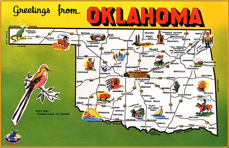 State Map Of Kansas And Oklahoma.Images Of Oklahoma Soon Ll Be Livin In A Brand New State