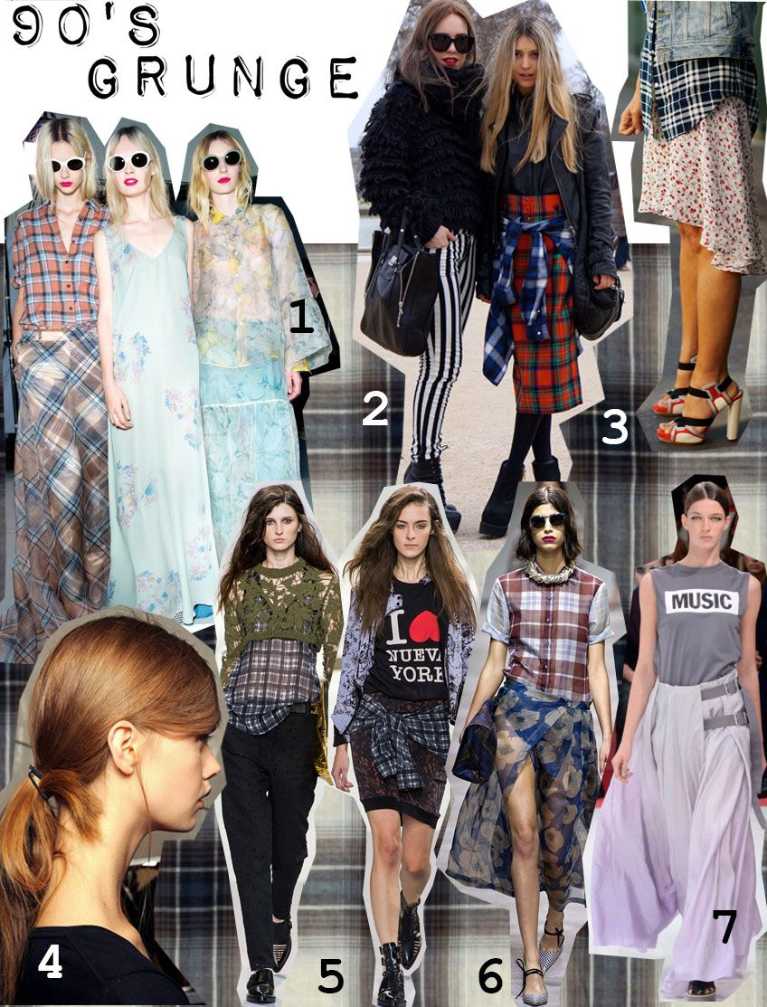 grunge, oversized plaid shirt | Grunge fashion, Types of
