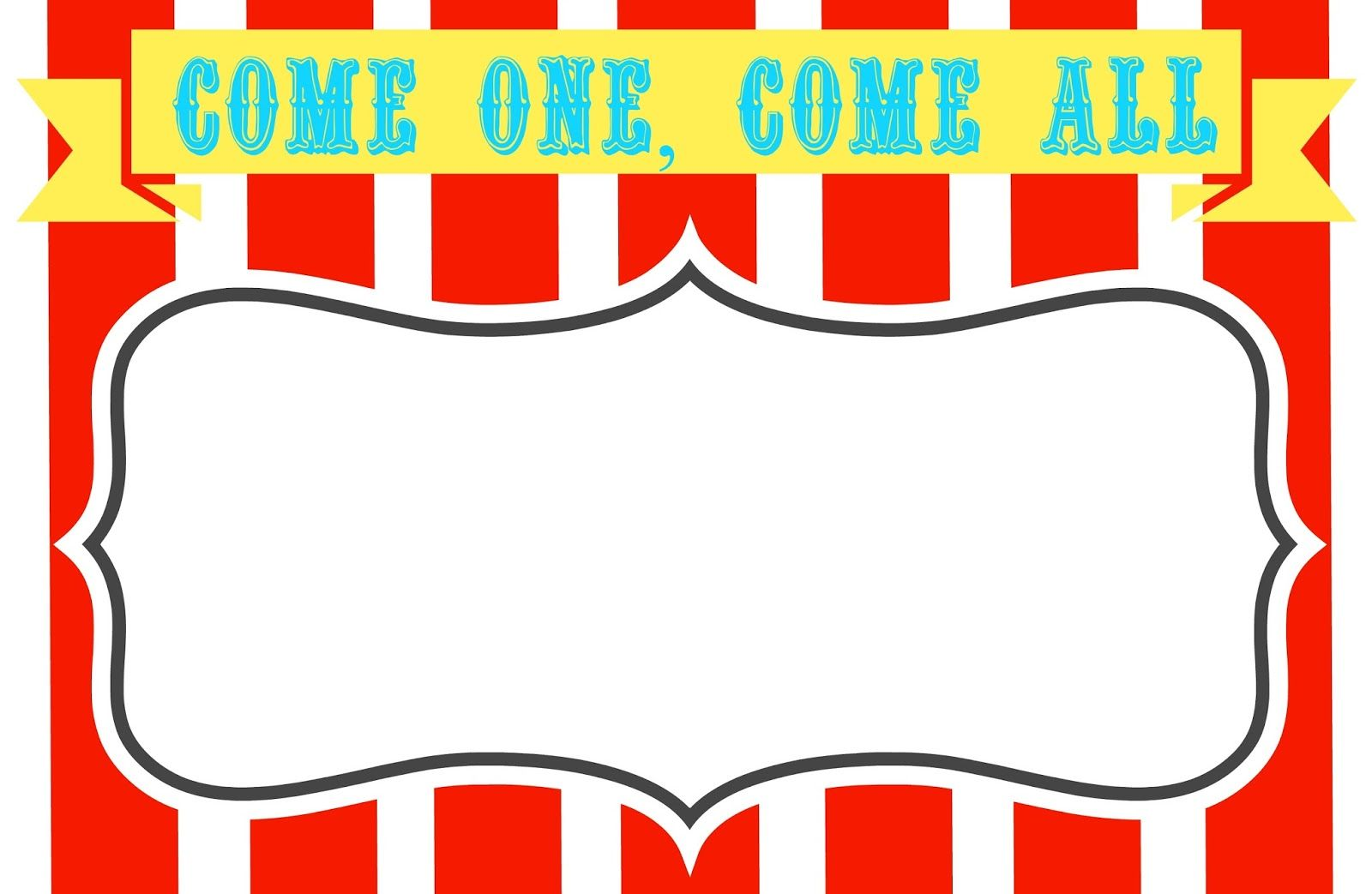 Free Printable Carnival Themed Invitations