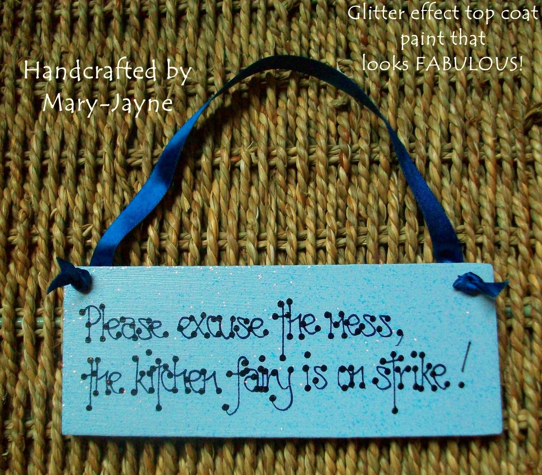 Handmade Handpainted Kitchen Fairy On Strike Gift by byfairydust ...