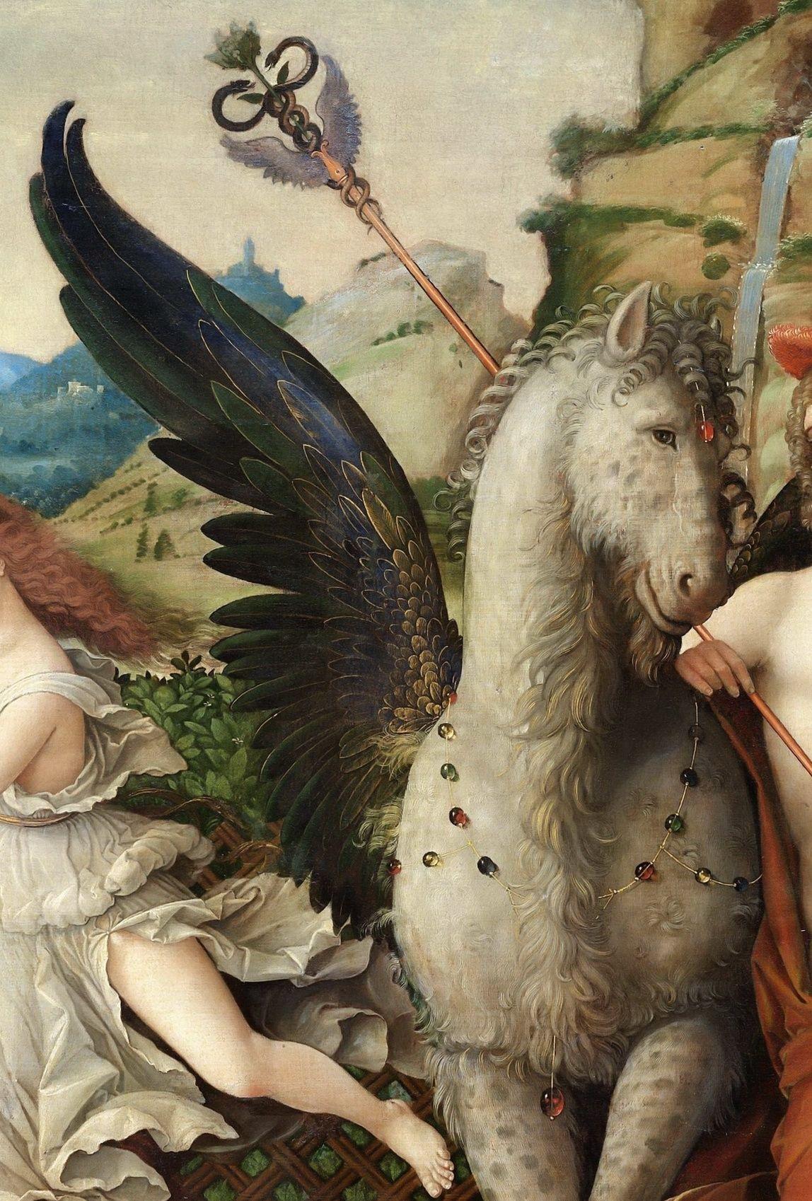 Parnassus (Mars and Venus) (1497)ーAndrea Mantegna(detail)