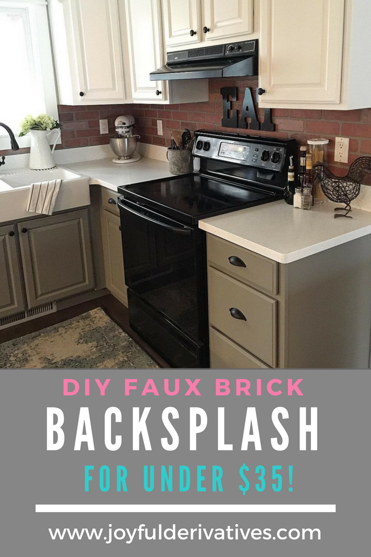 - How To Install Faux Brick Backsplash In A Kitchen Faux Brick