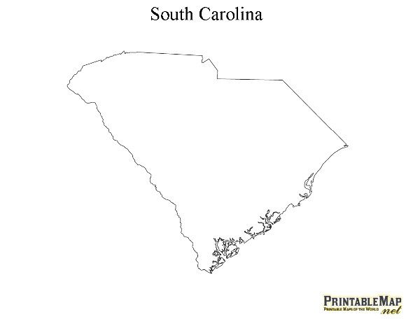 picture relating to Printable Map of South Carolina named Printable Map of South Carolina Do it yourself Misc. Printable maps