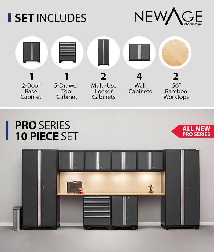 Best Newage Products Pro 3 Series Storage Cabinet 10 Piece 400 x 300