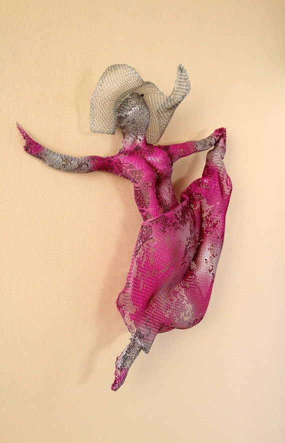 3d wall art, Dancer sculpture, metal art, dance wall art, wire ...