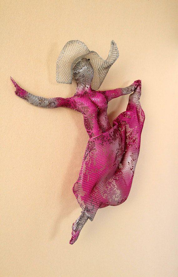 3d wall art, Dancer sculpture, metal art, dance wall art, wire ...