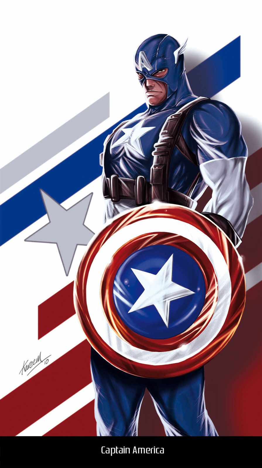 Captain America, Kareem Ahmed on ArtStation at https://www.artstation.com/artwork/captain-america-505c4513-17b4-4f3b-b03c-9b19a511340b