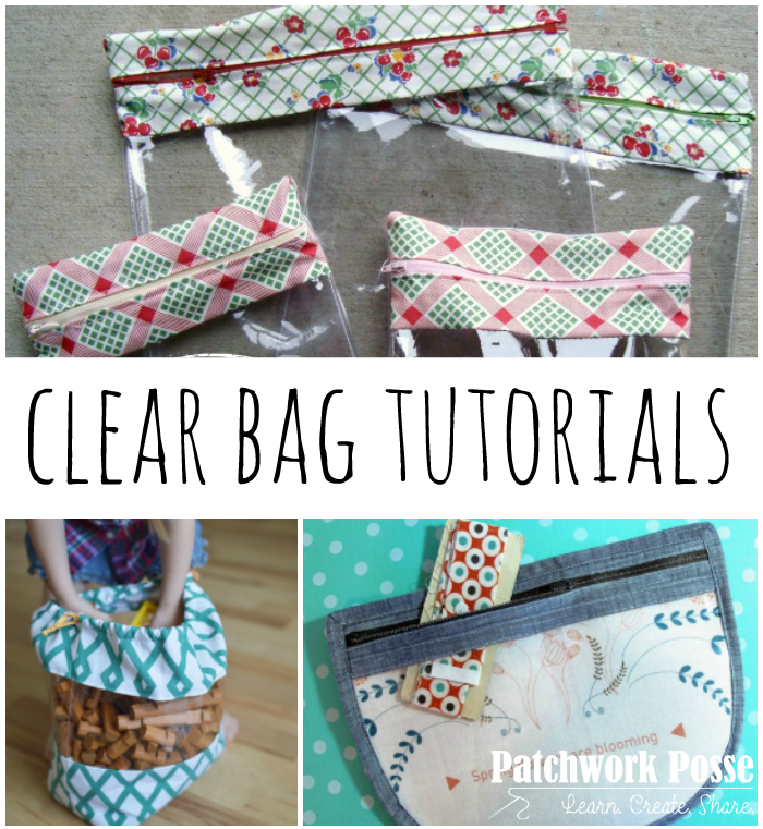 20 Clear Bag Tutorials Sew Purses Bags Amp Totes