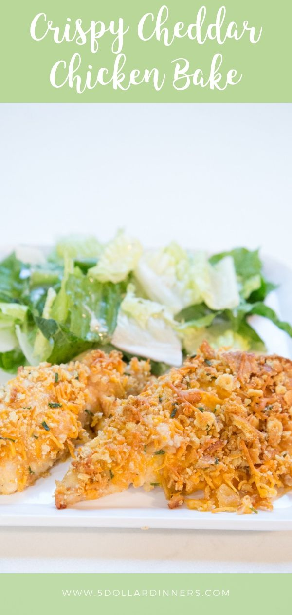 Crispy Cheddar Chicken Bake Recipe #crispycheddarchicken