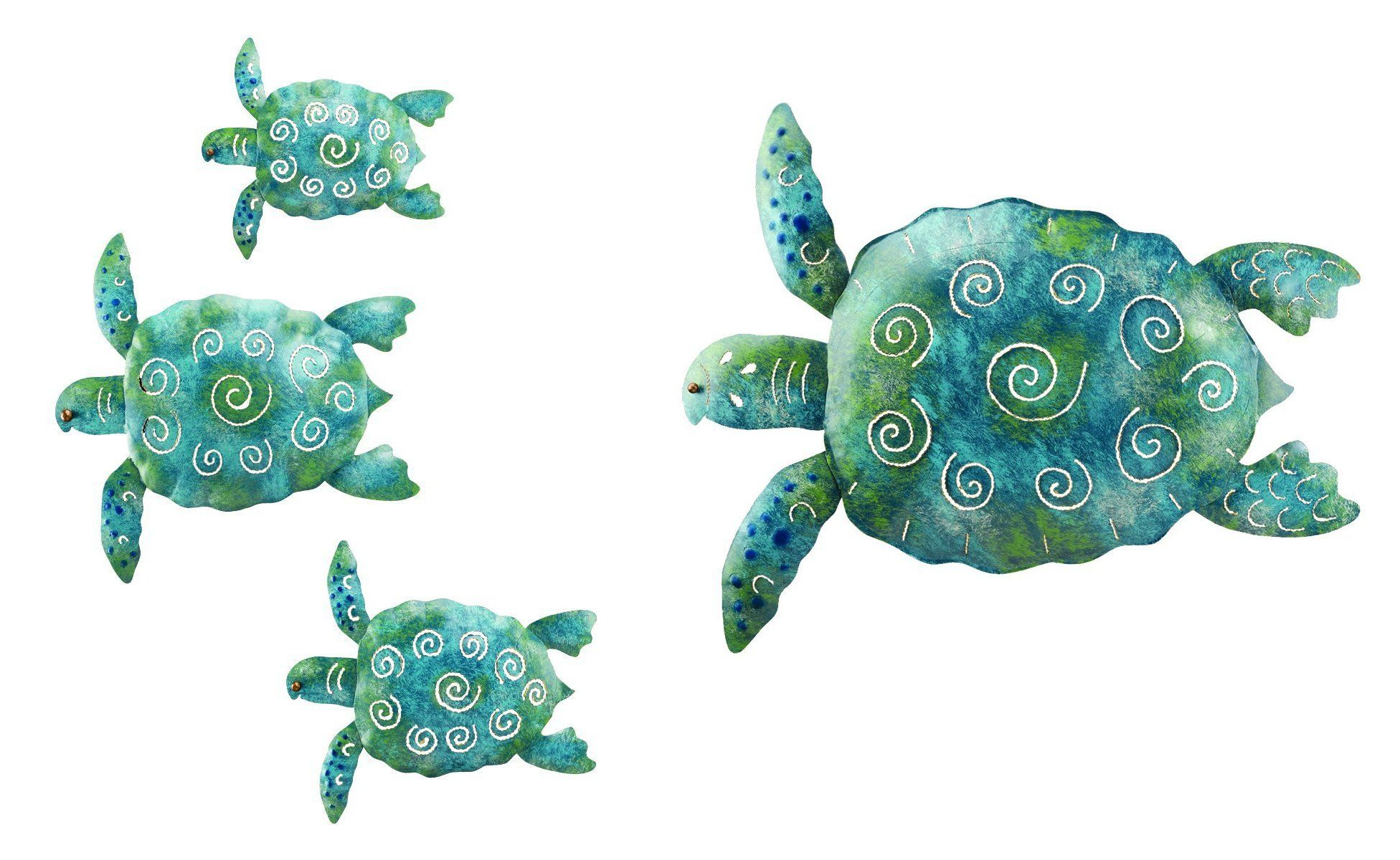 Regal sea turtle set and décor for home garden bring these sea
