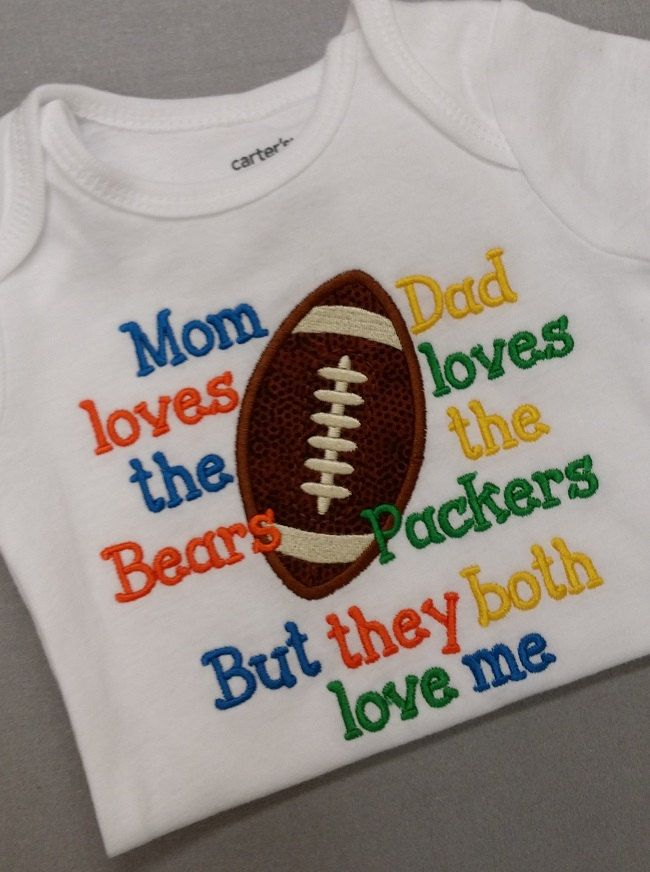 5780052e House Divided Packers Bears t shirt packers by CountryClubGifts ...