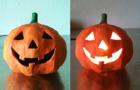 Manualidades De Halloween Calabaza De Papel Mache Manualidades - Calabaza-de-papel