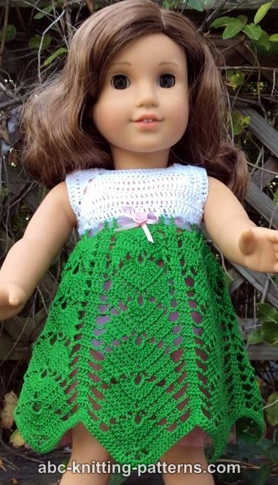 Free Doll Dress Crochet Pattern Faras Pinterest Vacation