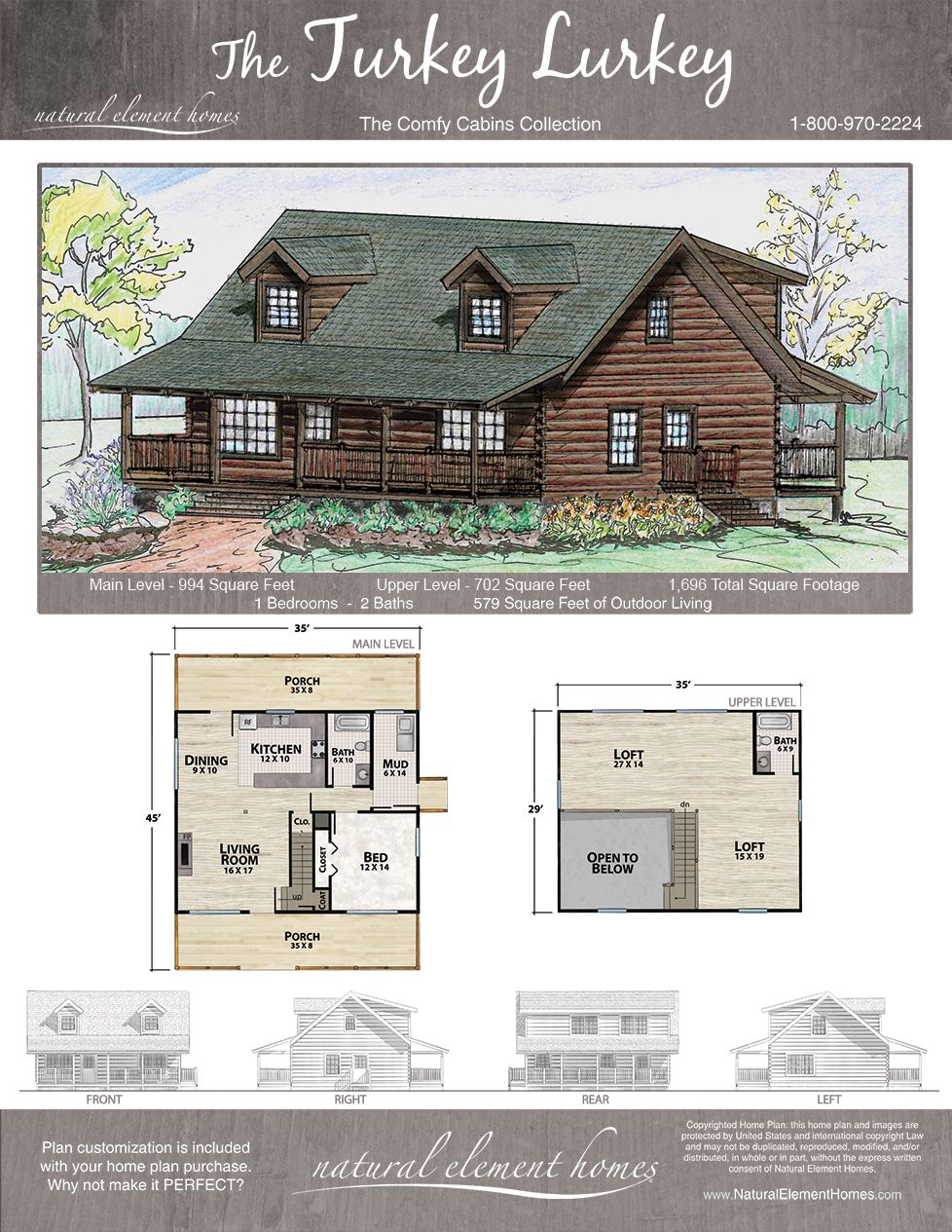 Turkey Lurkey Plan Comfy Cabins Natural Element Homes Building Plans House Log Cabin Floor Plans Log Home Floor Plans