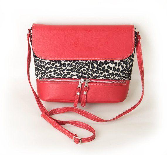 97d7bdb1a0 Red crossbody bag Leopard print red crossbody bag Red purse