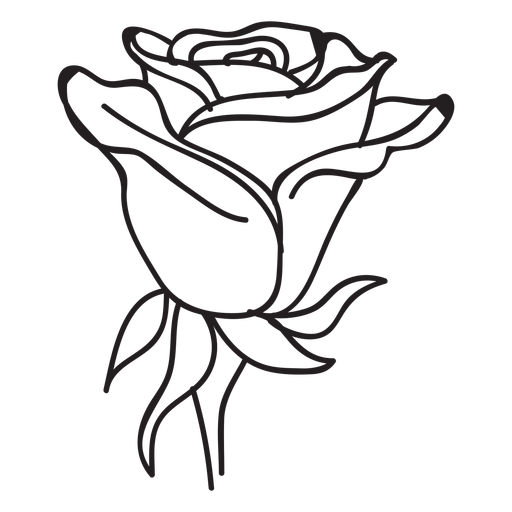 Blooming rose head stroke icon Transparent PNG & SVG vector