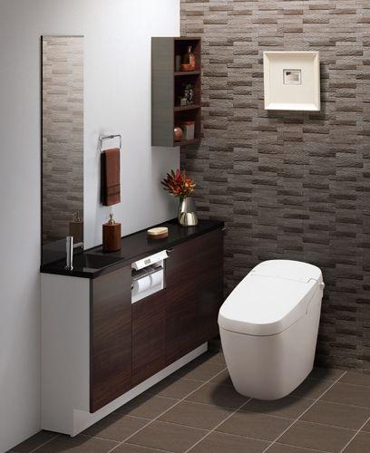 Lixil トイレ トイレ手洗い キャパシア 施工イメージ 0 75坪 手洗器一体型1 トイレ 壁紙 おしゃれ トイレ インテリア 日本のインテリアデザイン