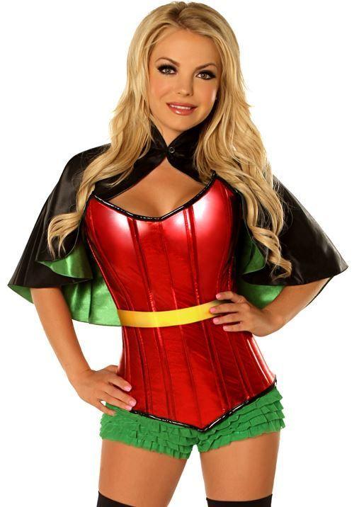 Plus Size Robin Superhero Sidekick Corset Costume $148.00  sc 1 st  Pinterest & Plus Size Robin Superhero Sidekick Corset Costume $148.00 | Plus ...