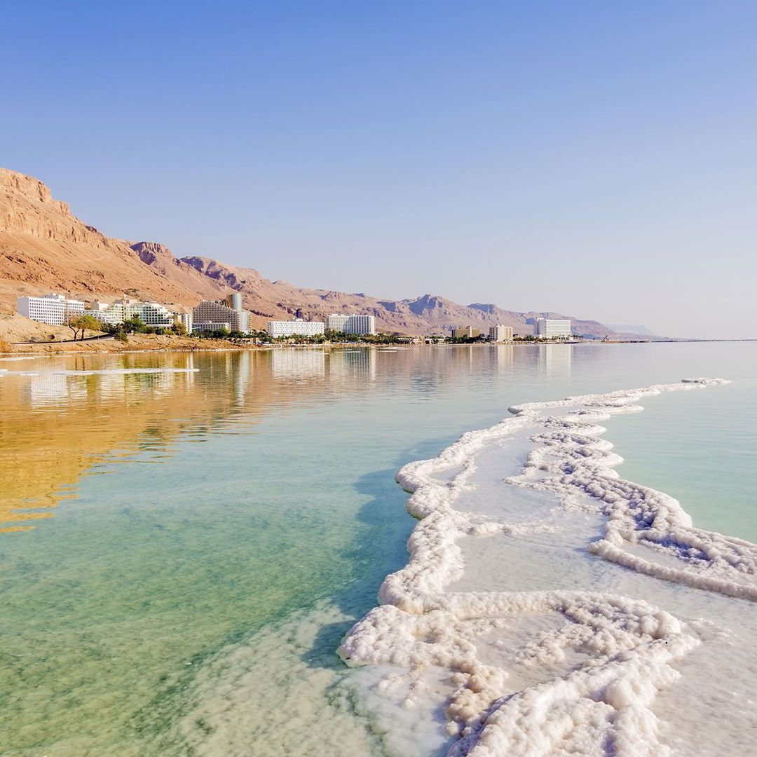 Goop On Instagram The Dead Sea Is The Lowest Point On Earth Water Flows In But None Flows Out Instead It Evaporates Travel Adventure Around The Worlds