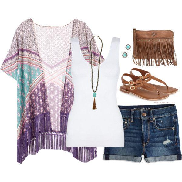 Fringe kimono & wristlet