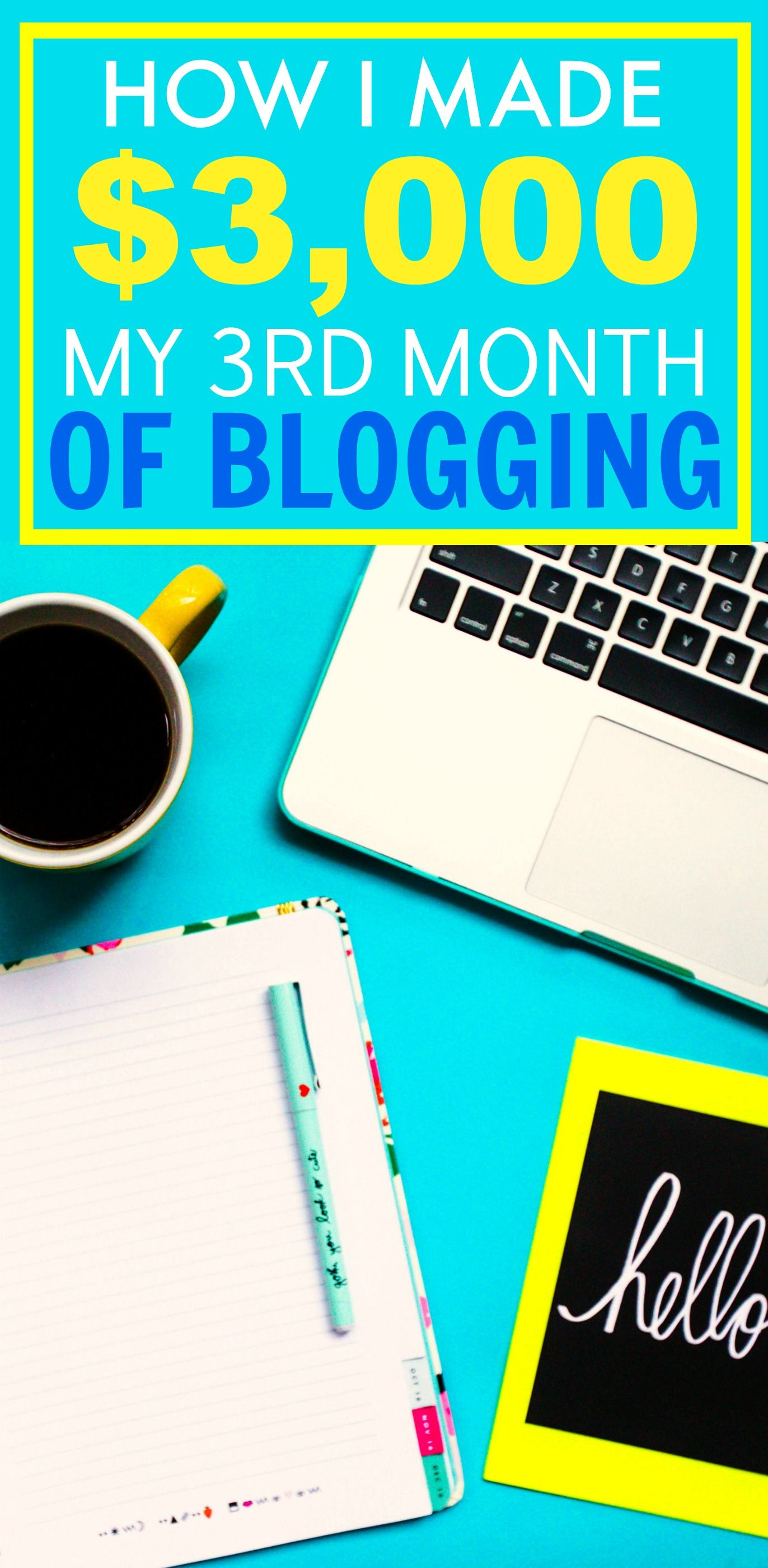 How she made $3k in her 3rd month of blogging is AMAZING! I'm so inspired and her tips have SERIOUSLY helped me out! My traffic has DOUBLED and so has my income! I'm so happy I found this post! SO pinning for later!