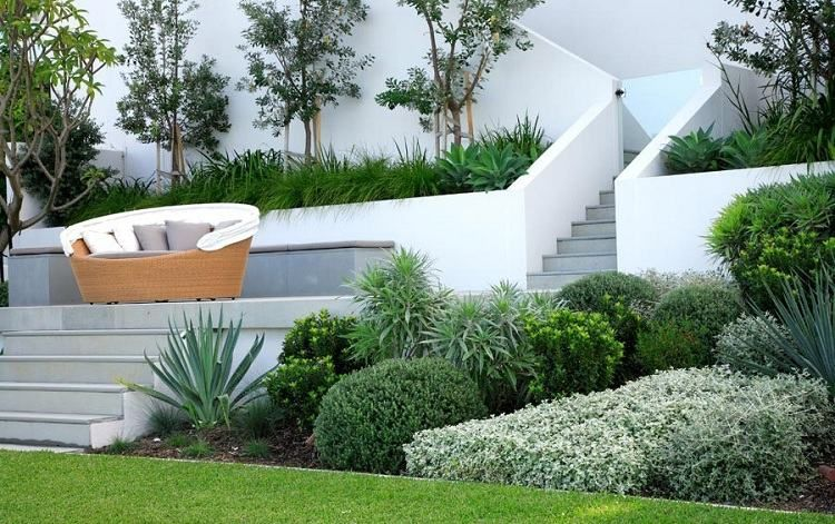 Jardin contemporain–atmosphère accueillante,design élégant | Jardins ...