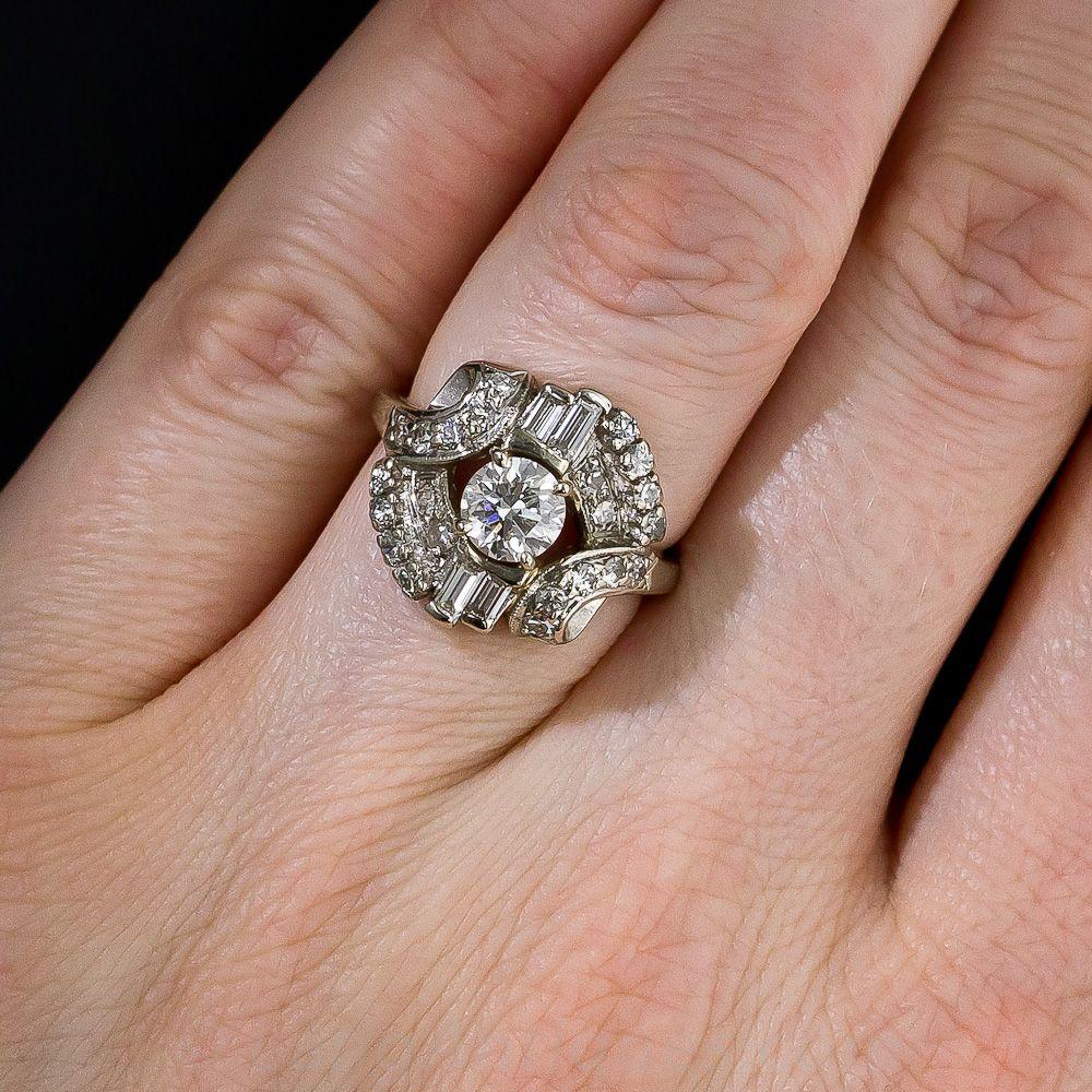 MidCentury Diamond Dinner Ring 1011302 Lang