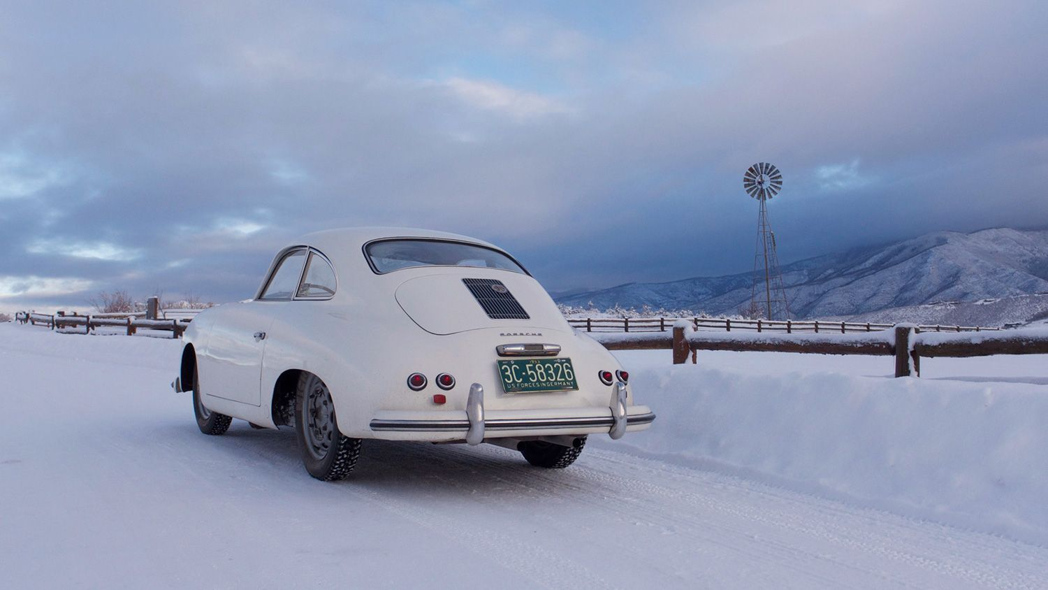 This 1953 Pre-A Porsche 356 Runs Great in Wintry Rockies - Photography by Jeff Zwart
