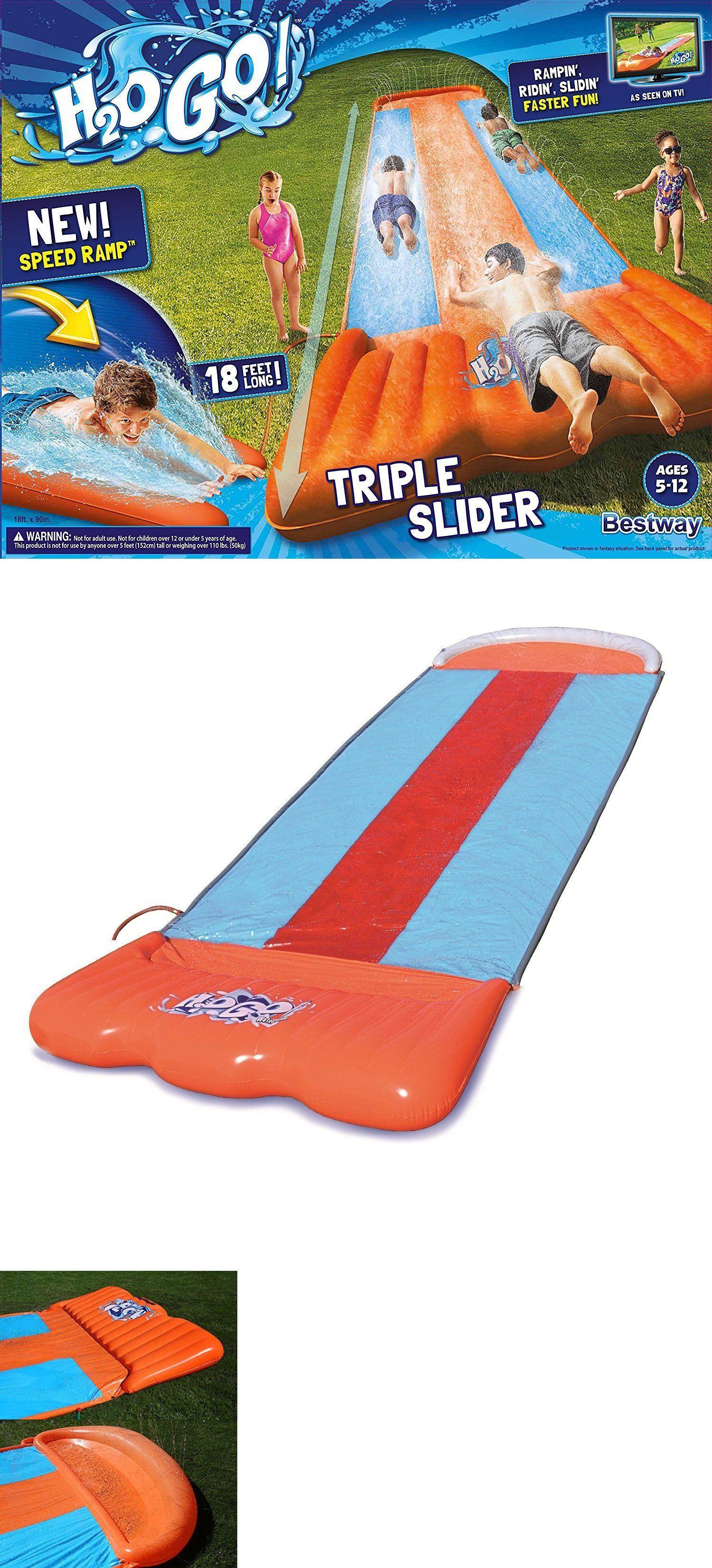 water slides 145992 inflatable water slide triple pool kids park