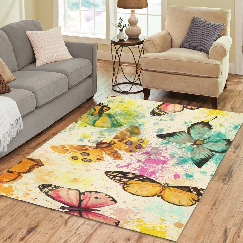 Amazon Com Intertestprint Butterfly Area Rug Custom Area Rugs