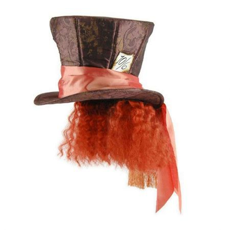 meet cdc11 f9a3c Disney Alice in Wonderland Mad Hatter Top Hat with Hair available at   VillageHatShop