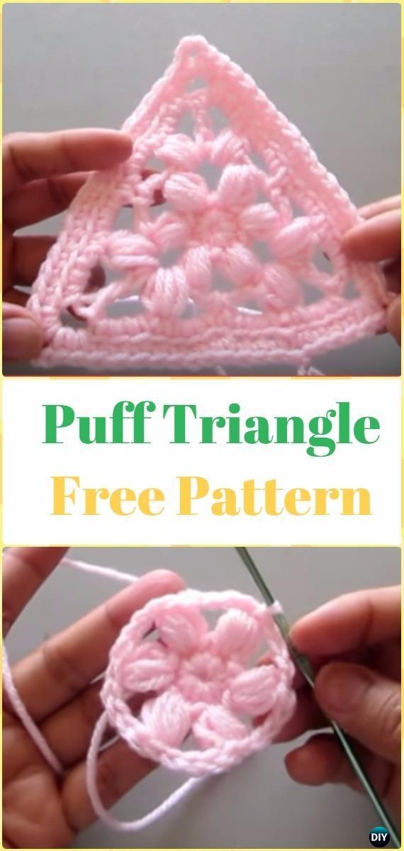 Crochet Puff Triangle Free Pattern - Crochet Triangle Free Patterns ...