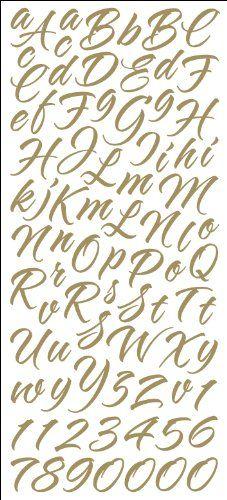 Sticko Gold Brush Stroke Alphabet Alphabet Stickers Lettering Alphabet Brush Strokes