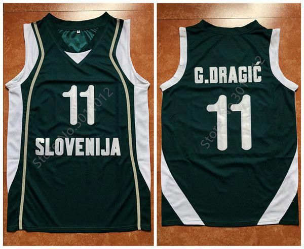 2018  11 Goran Dragic Team Slovenija Retro Throwback Basketball Jersey Mens  Embroidery Stitched Custom Any Number And Name Jerseys From Yufan7 a267054d7