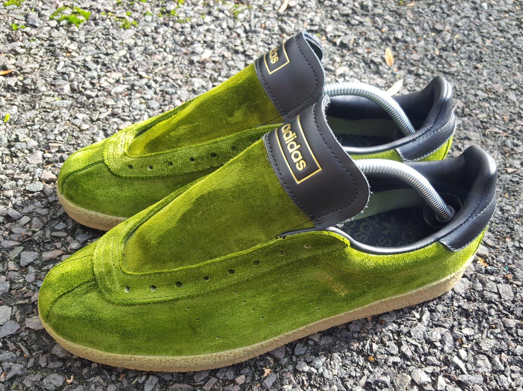 online store 6ede5 2ffcb Green Adidas topanga clean re-dye with ardwick green