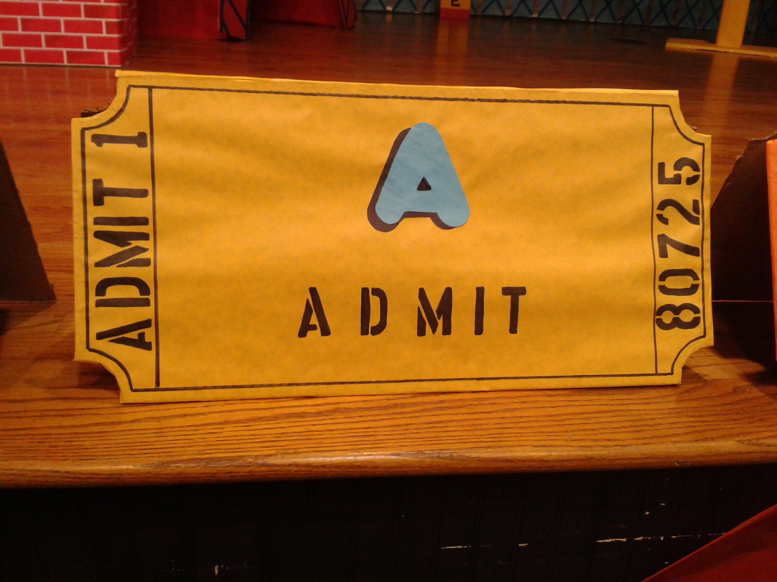 Admit Giant Ticket For Bhbc Worship Rally Vbs 2013 Vacation