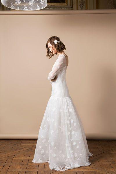 Robe de mariée Germain, Delphine Manivet - EN IMAGES. Dix robes de mariée de la collection 2014 Delphine Manivet - L'EXPRESS