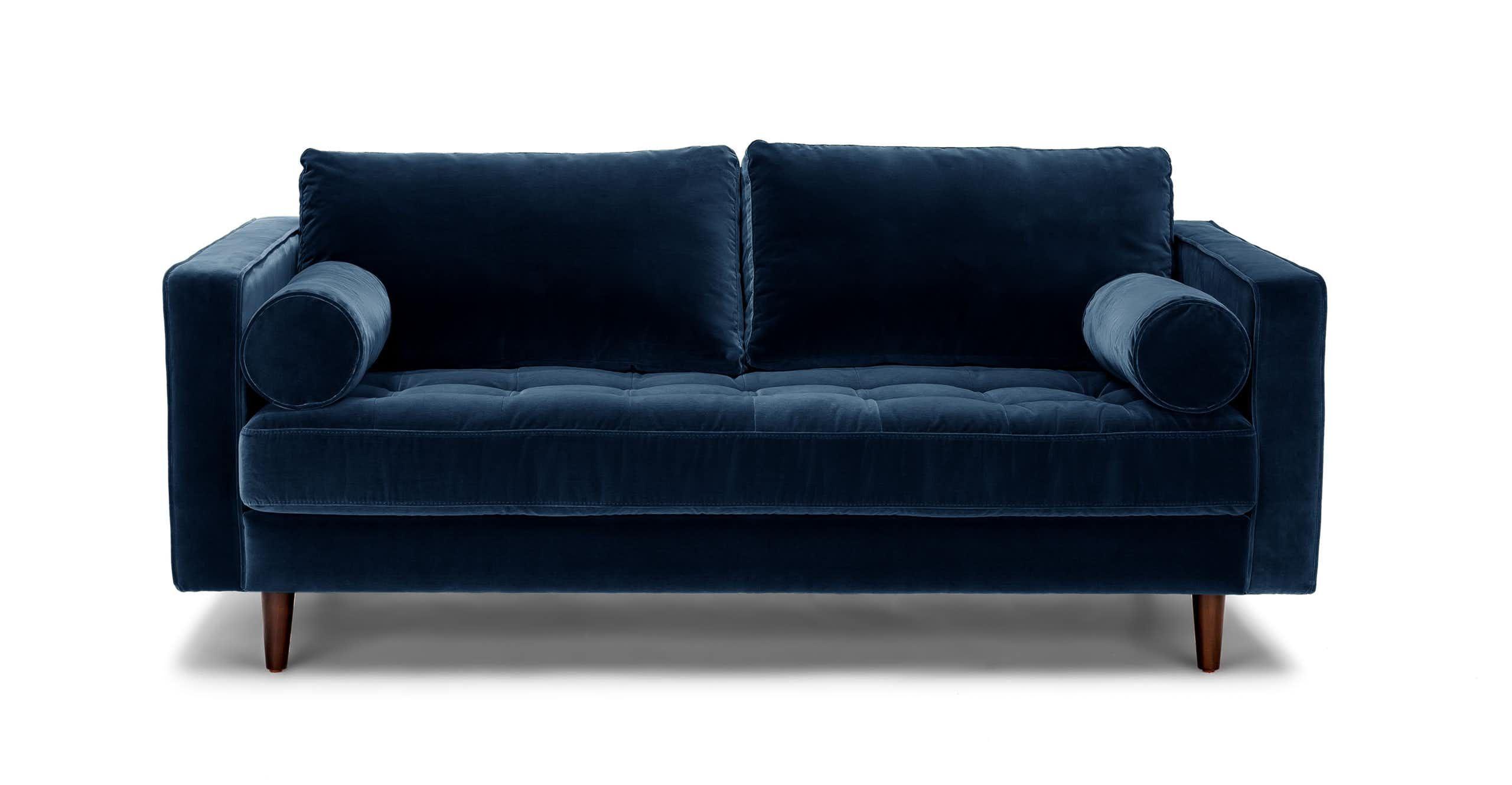 Sven Cascadia Blue 72 Sofa