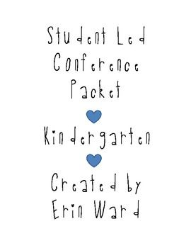 Student Led Conference Packet {kindergarten parent