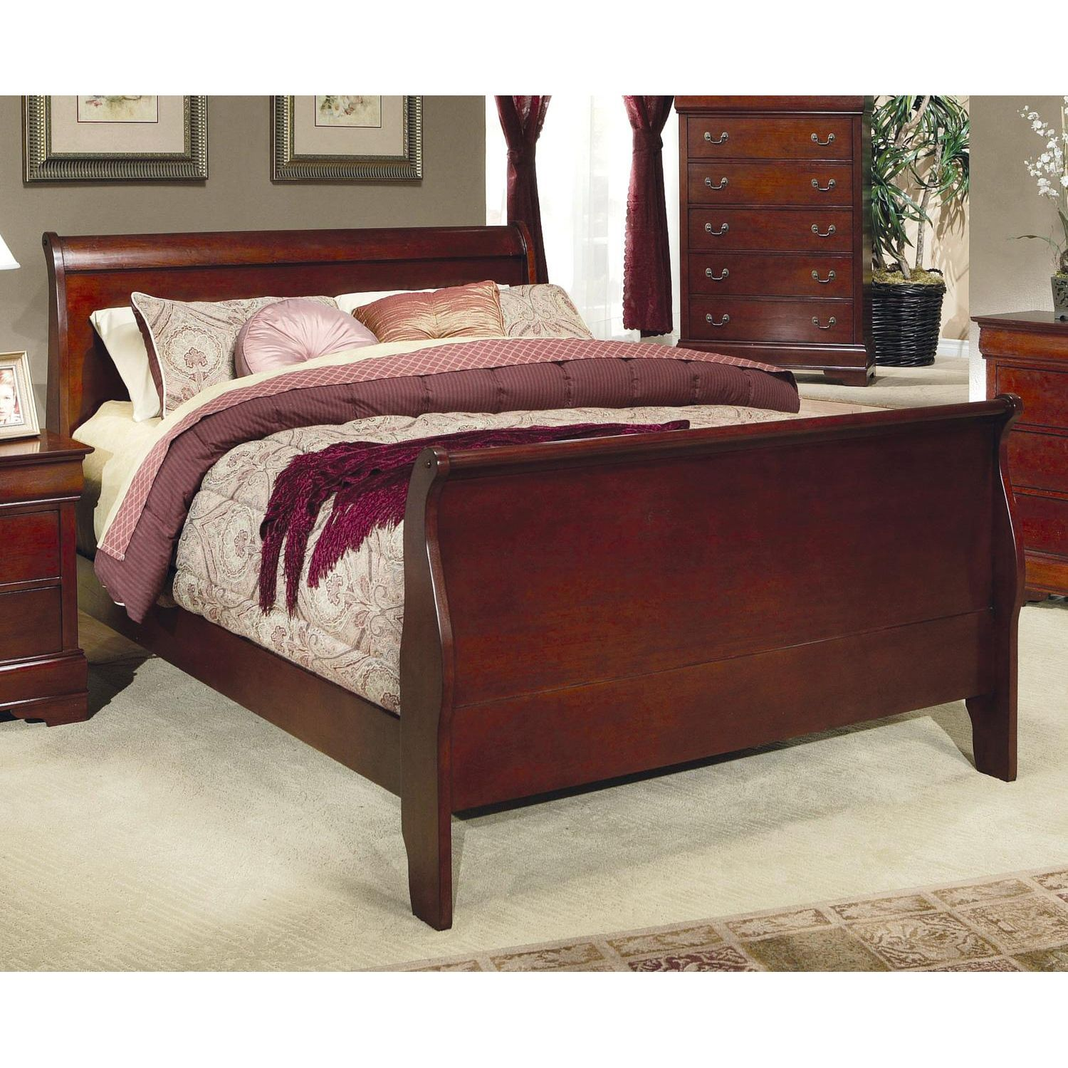 The Interesting Typical Designs Queen Size Sleigh Bed Cherry Bedroom Furniture Cherry Wood Bedroom Furniture Cherry Bedroom