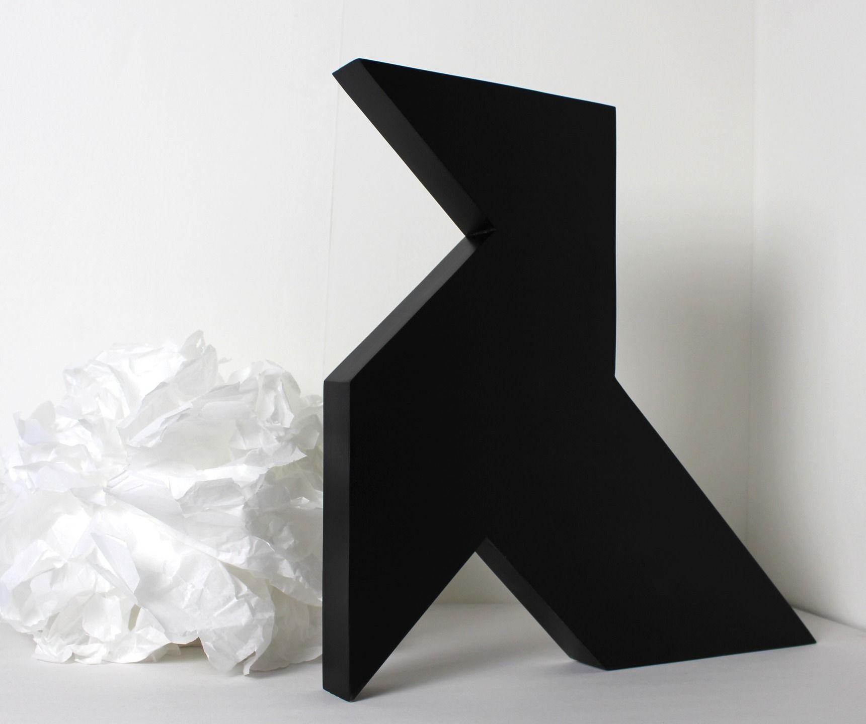 Objet Deco Laque Blanc cocotte en bois géante noir laqué style industriel pour une