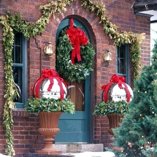 Outdoor Christmas Yard Decorations Large Decor Door Simple Decoration To Enliven Your
