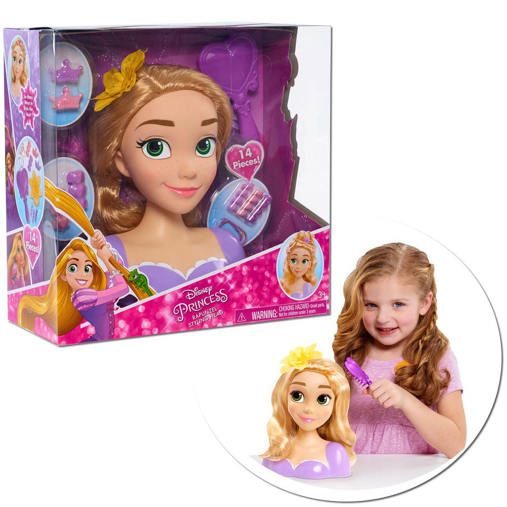 Toys images for kids  Disney Princess Rapunzel Styling Head Doll Set Hair Hairstyle Toys