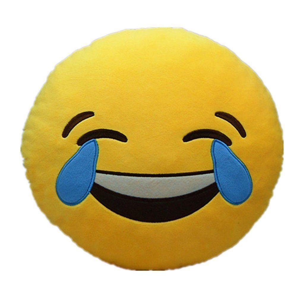 New Emoji Smiley Emoticon 32 Gift Pillow Smiley Faces Yellow Soft Round Cushion