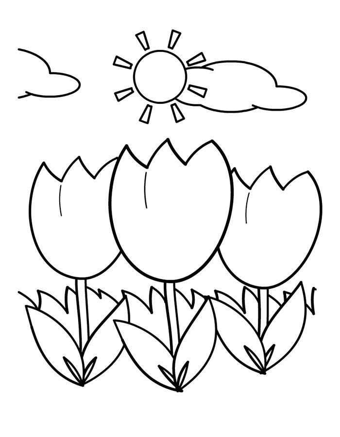 Kleurplaten Lente En Zomer.Kleurplaten Lente Bloemen Zomer En Lente Zie Ook