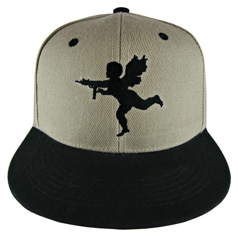 530227e611b Black   Tan Lost Angels   Kings Cupid Snapback Hat  lostangelsandkings   snapback  hat  headwear  snapbacks  fashion  streetwear  style  cupid   angel  gun ...