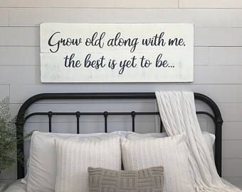 bedroom signs. Bedroom wall decor Where you go I will wood signs