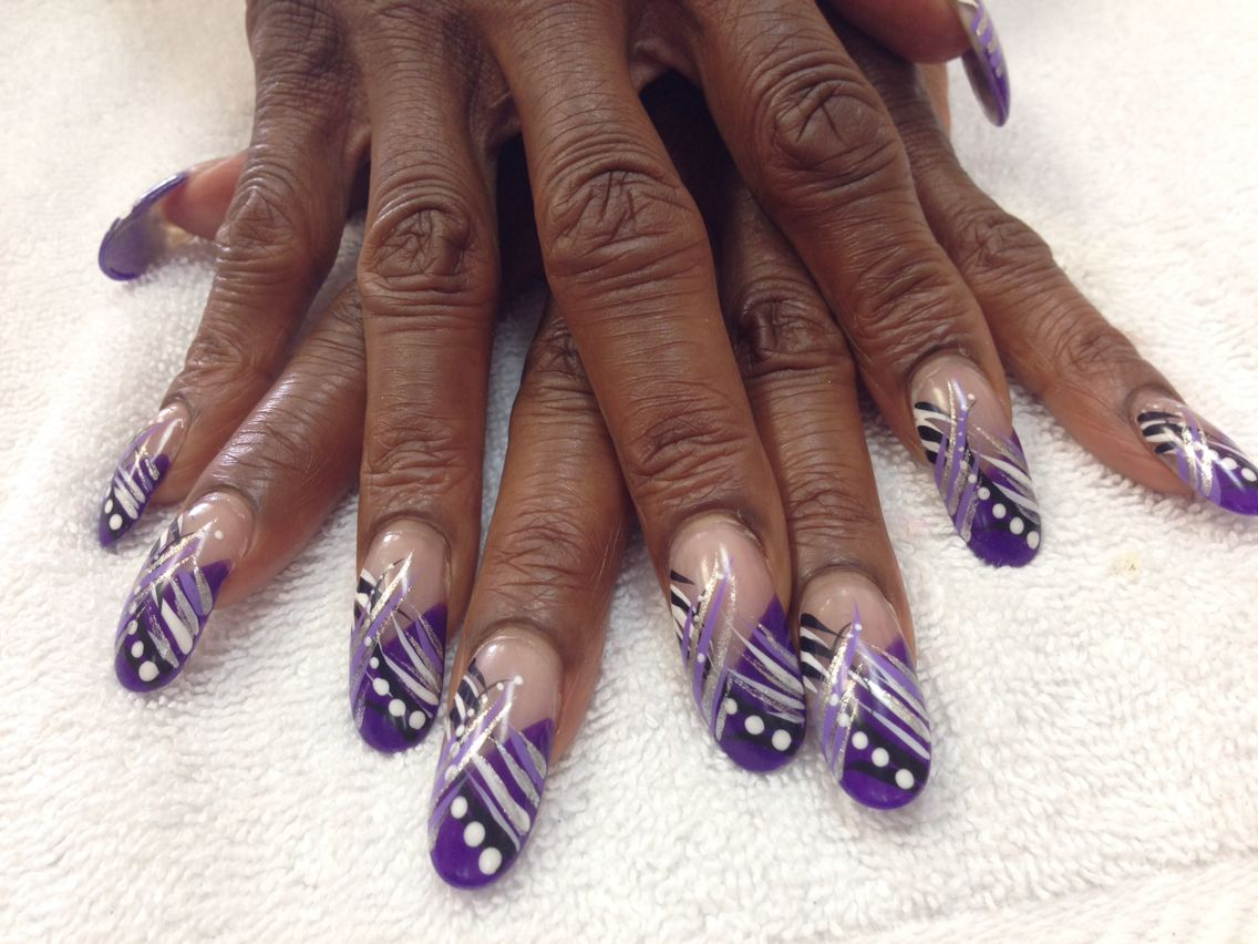 Purple nails art.. | Designs by Diamond Nail Spa | Pinterest ...